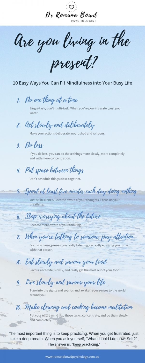 10Easy Ways You Can Fit Mindfulness into Your Busy Life