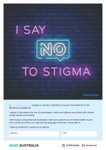 I say NO to Stigma