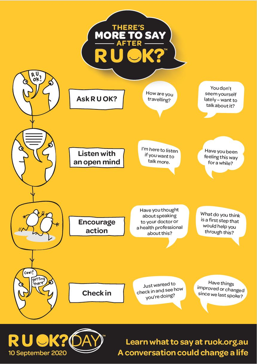 There's more to say after RUOK?